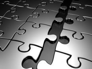 Puzzle break apart 3d rendered