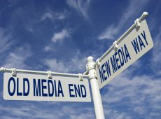 old media end and new media way